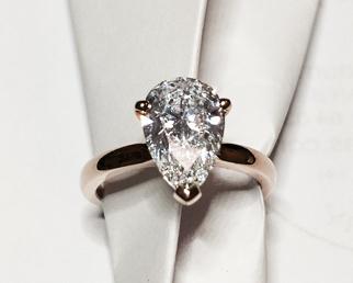 Bague Marianne diamant poire